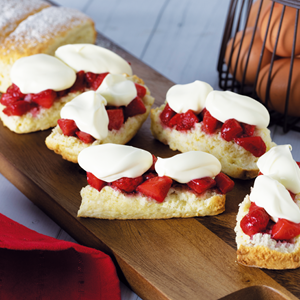 Strawberry Scone Fingers